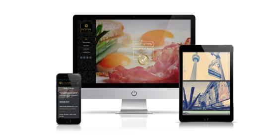 evviva restaurant website design