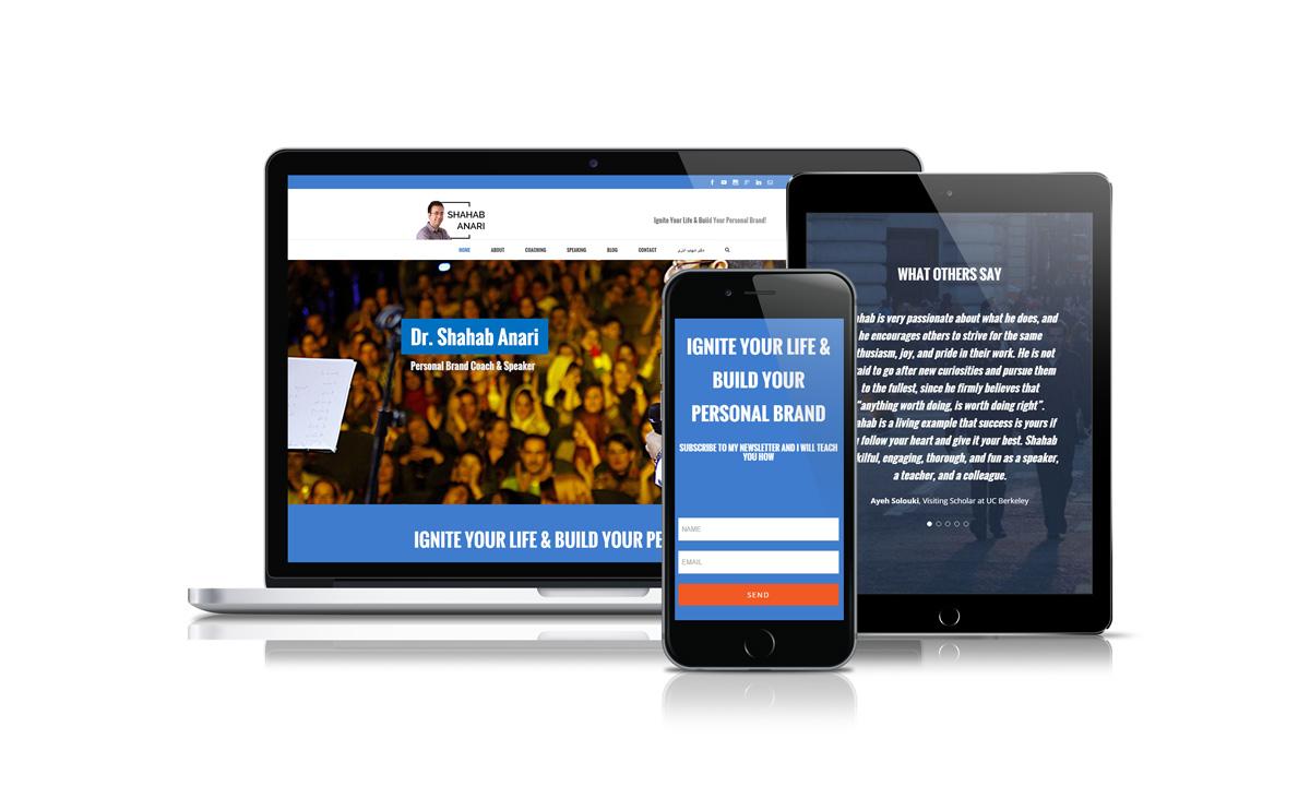 shahab anari personal branding educational website