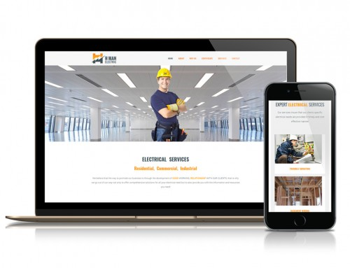 H MAN Electric Website Development and Branding