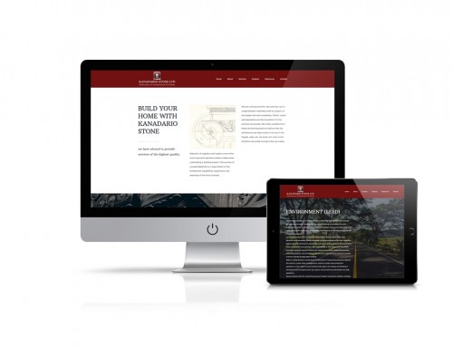 Kanadario Stone Website Design